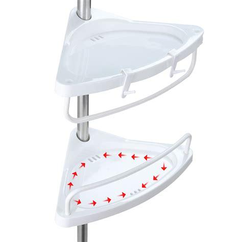 bathtub corner caddy telescopic corner caddy shelf bath shower shoo storage basket tray rack ebay