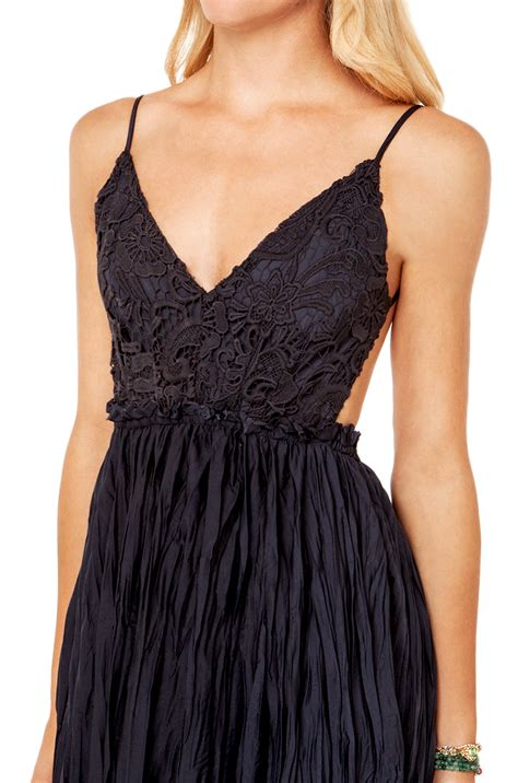 Bust Lace black label backless lace bust maxi dress in navy in blue navy lyst