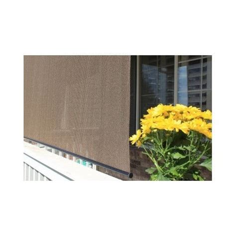 patio sun shade outdoor roll up exterior blind deck