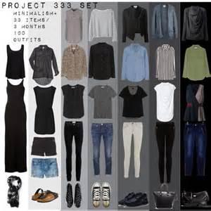 project 333 minimal capsule wardrobe set