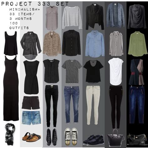 Project Wardrobe by Quot Project 333 Minimal Capsule Wardrobe Set Quot By