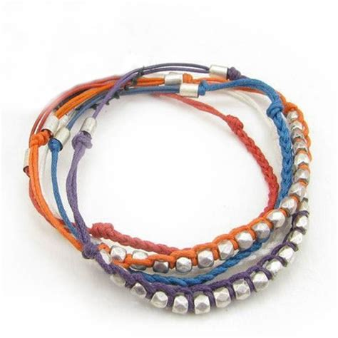 How To Make Handmade Bracelets With String - fashion handmade layered string bracelets string