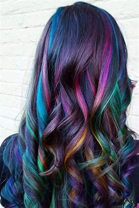 rainbow hair colors 17 best ideas about rainbow hair colors on