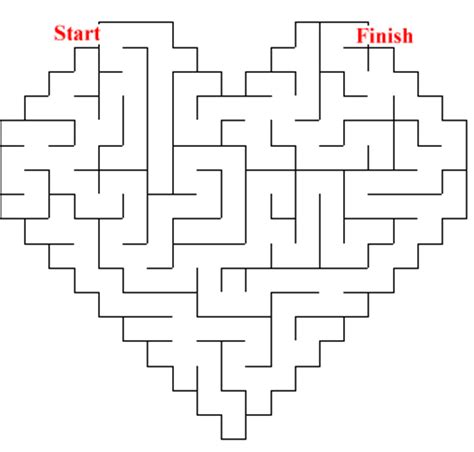 printable heart maze printable valentine maze game can you find your way