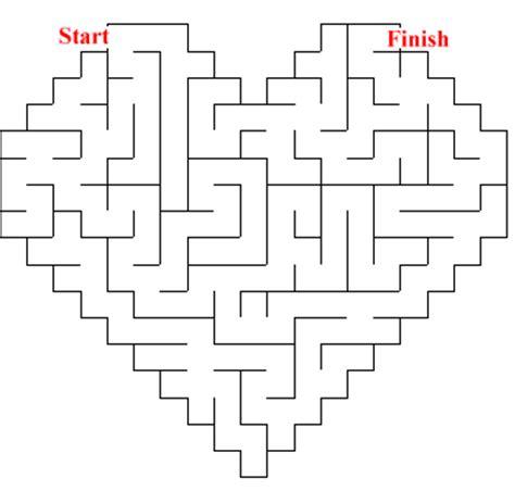 printable valentine s maze the runaway lawyer valentine s day mazes