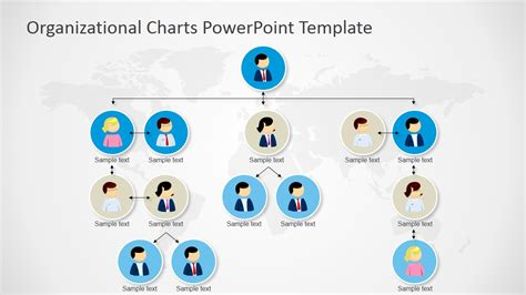 org chart template in powerpoint organizational charts powerpoint template slidemodel