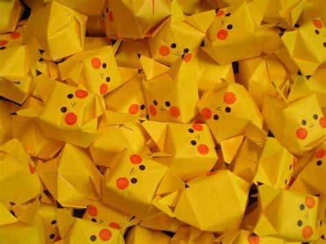 Pikachu Origami Cube - pikachu origami cube paper kawaii