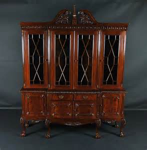 dining room china cabinet ball amp claw mahogany dining room china cabinet with gadroon
