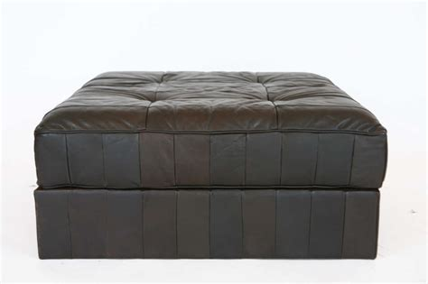 Patchwork Leather Ottoman - large leather patchwork ottoman by de sede at 1stdibs