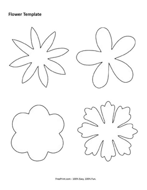 Felt Flower Template Printable