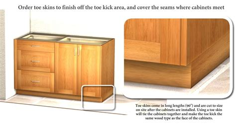 toe kick kitchen cabinets toe skin for covering exposed cabinet toe kick
