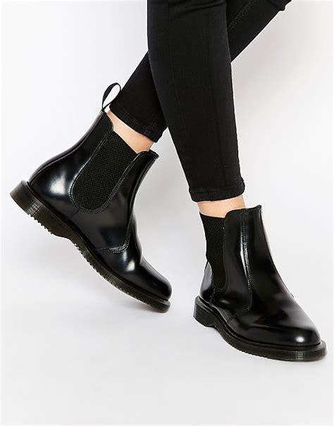 doc martens chelsea boots dr martens dr martens kensington flora black chelsea boots