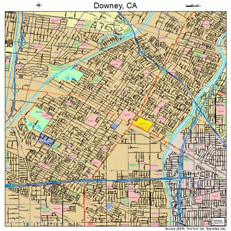downey california street map 0619766
