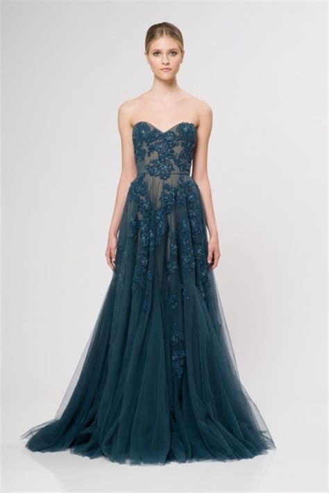 nontraditional bridesmaid chagne and blue 18 colorful wedding dresses for the non traditional