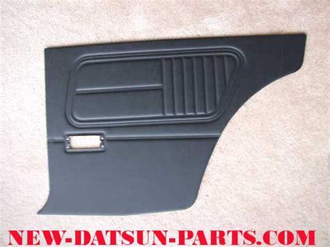 Datsun Interior Parts by Datsun 510 2 Door Black Interior Door Panels
