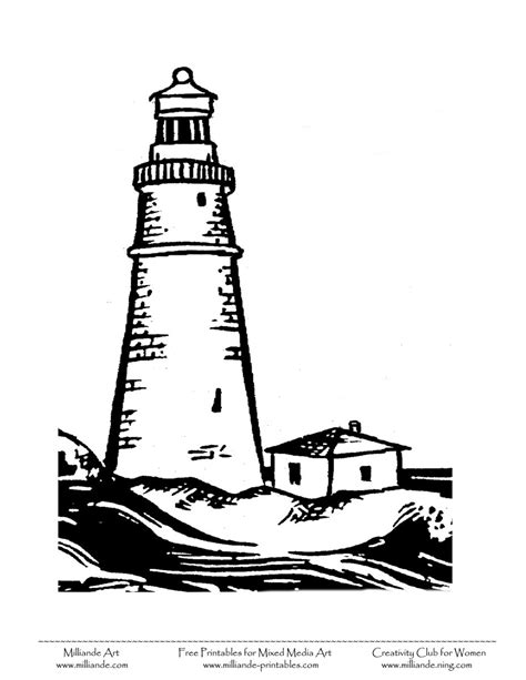 free printable lighthouse free printable black art clipart coloring pages