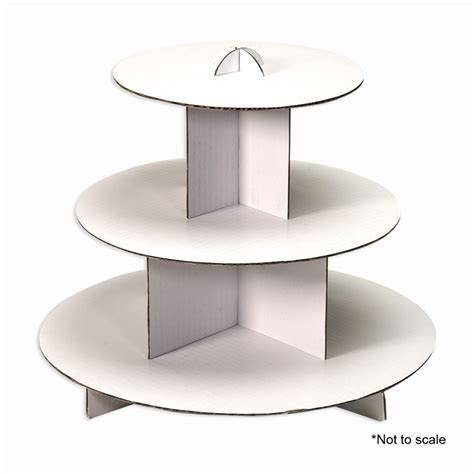 3 Tier White Cupcake Cake Stand three tiered white cupcake cardboard stand is ideal for