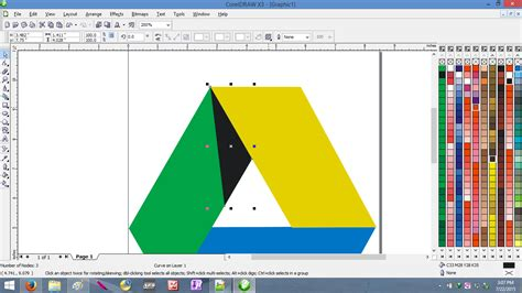 membuat logo google drive cara membuat logo google drive menggunakan coreldraw