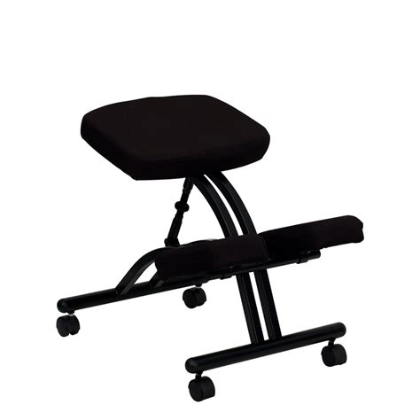 Knee Chairs by Flash Furniture Mobile Ergonomic Kneeling Chair In Black