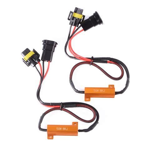 h11 led load resistor 2x h11 led canbus error free 50w 8ohm load resistor bypass wiring harness ma962 ebay