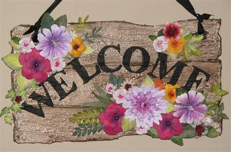 welcome images with flowers ink stains springtime welcome sign paper flowers galore