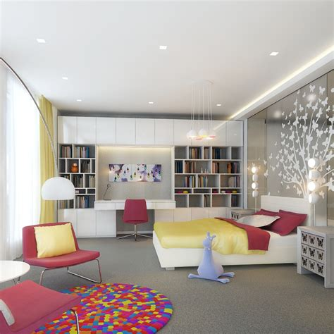 Kids Rooms Climbing Walls And Contemporary Schemes Modern Design Bedroom