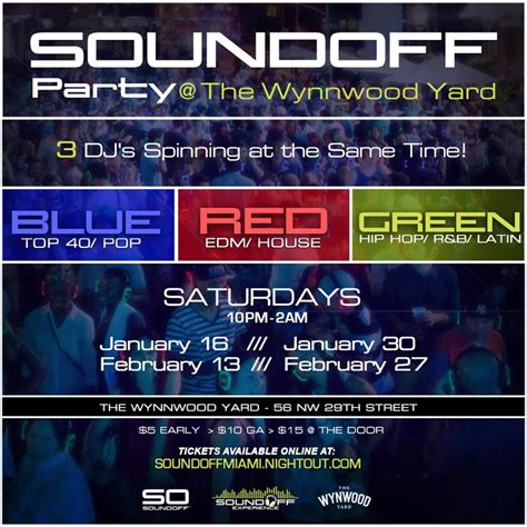 bands in the backyard promo code sound off silent disco the wynwood yard tickets