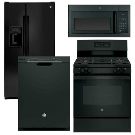 package 24 ge appliance package 4 appliance package with gas range black