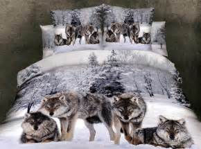 Wolf Bedding Sets Colorful Mart Wolves White Bedding Animal Print Bedding