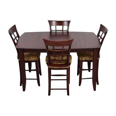 48 Off High Top Dining Table With Four Chairs Tables High Top Dining Table Set