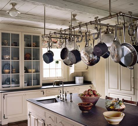 hanging pots and pans from ceiling michael s smith sohautestyle