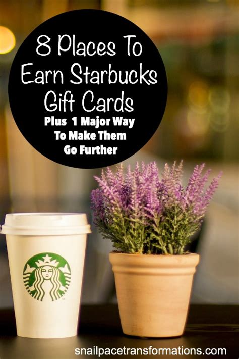 Earn Starbucks Gift Card - 8 places to earn starbucks gift cards