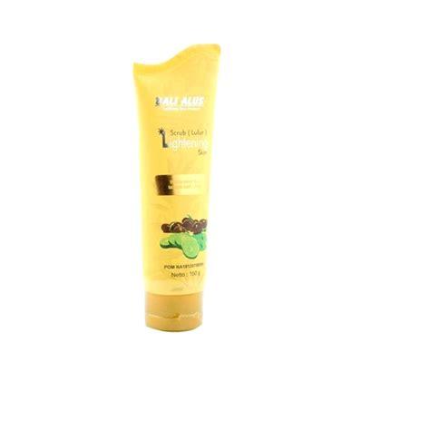 Harga Bali Alus Lightening Scrub 5 rekomendasi scrub dari brand lokal dengan harga di