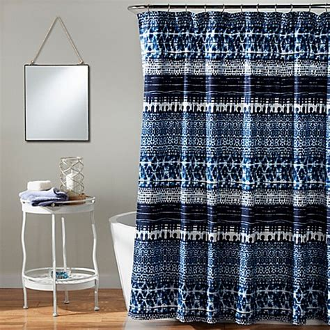 tie dye shower curtains sale lambert tie dye shower curtain in navy bed bath beyond