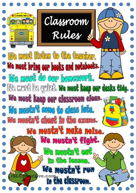printable posters for classroom classroom rules poster 4 efl esl pinterest