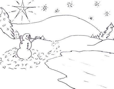 coloring page winter scene scene winter coloring pages printable 579147 171 coloring