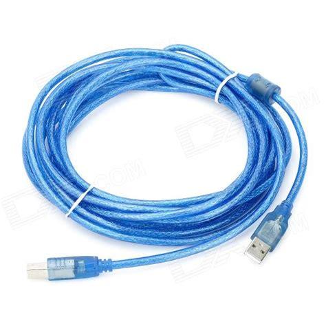 0 5m usb cable blue usb 2 0 am bm printer cable blue 5m length free