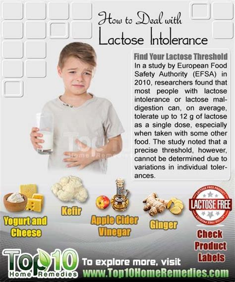 how to deal with lactose intolerance top 10 home remedies