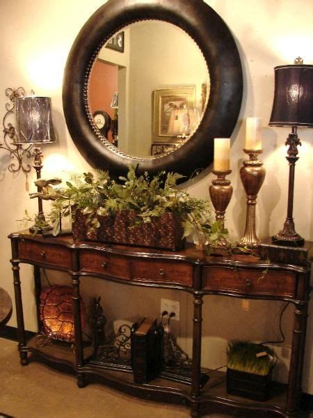 foyer table tuscan style decorating entry foyer british colonial decor entry table with classic round