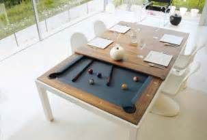 Pool Tables That Turn Into Dining Tables Transformer Tables Turn Dining Into Billiard And Ping Pong Creative Decor For The Abode