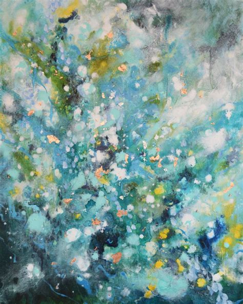 large paintings large green original abstract expressionist painting
