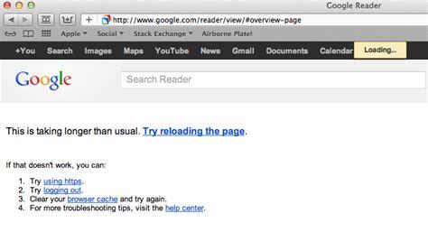 google images won t load lion why won t google reader load in safari 5 1 4 ask
