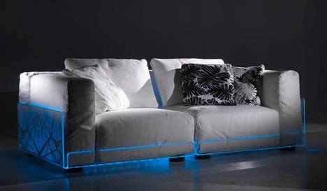 light up sofa led sectionals living room sofas built in mood lighting