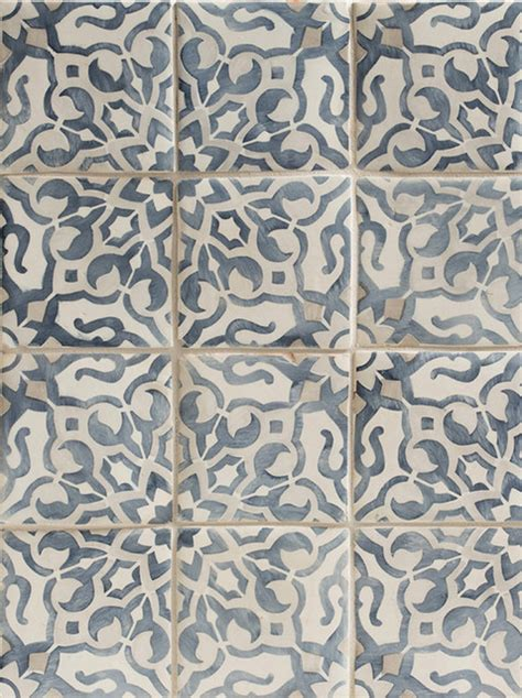 Rubber Floor Tiles For Bathrooms - duquesa fatima decorative field tile in mezzanote traditional tile los angeles by walker
