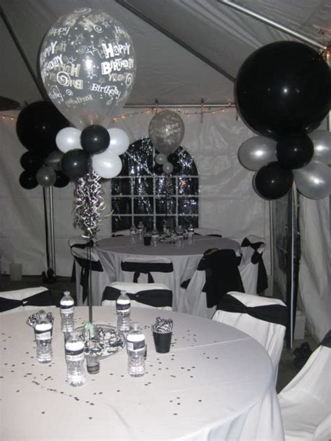 black and white men s 40th birthday party