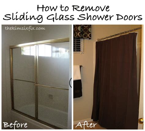 How To Repair Glass Shower Door Removing Sliding Glass Shower Doors Flashback Friday The Six Fix