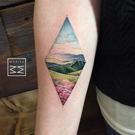 38 gorgeous landscape tattoos inspired by nature tattooblend