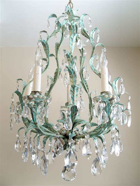 Chandelier With Crystals Water Sprite Marjorie Stafford Design