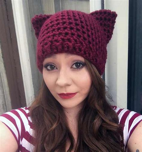 adorable   crochet patterns  cat hats