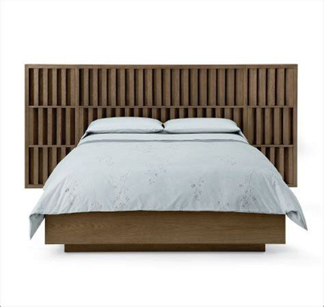 angled headboard bedroom angled bed three rows of slats make up the